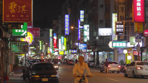 Evening traffic on tonghua street Live影片
