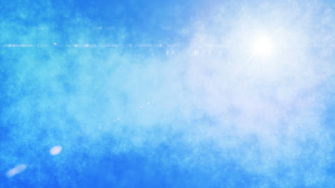 Dreamy Blue Sky Lite Loop stock footage