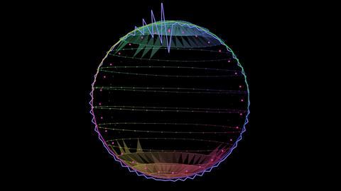 audio Spectrum 002, CG動画素材