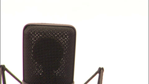 Studio microphone shot collection Footage