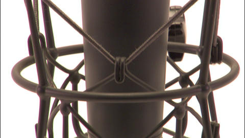 Tilt And Pan Of Studio Microphone stock footage