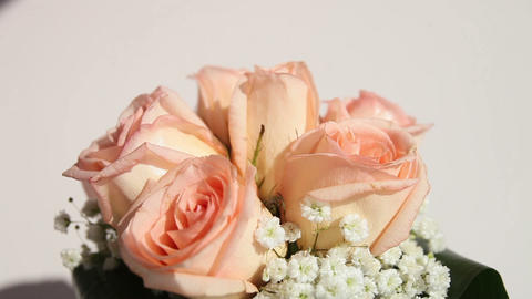 bridal bouquet of cream roses Footage