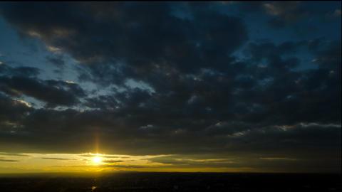 4K Sunrise Clouds Timelapse stock footage