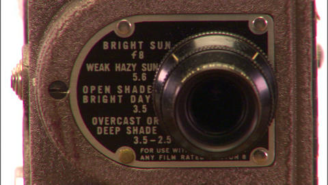 Vintage Film Camera - 4 Clips stock footage