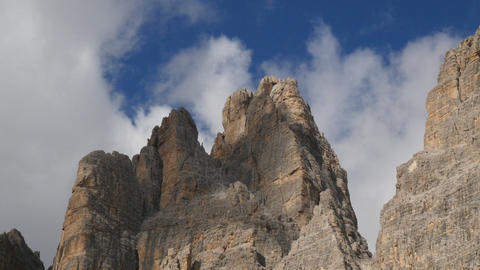 time lapse clouds over tre cime de lavaredo 11551 Footage