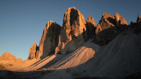 sunset time lapse tre cime de lavaredo close 11555 Footage