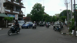 Daily Traffic Denpasar Bali Indonesia With Audio stock footage