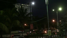 Denpasar Nighttraffic Bali Indonesia stock footage