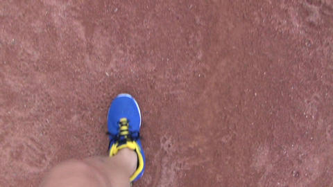 runner running on the track in stadium Footage