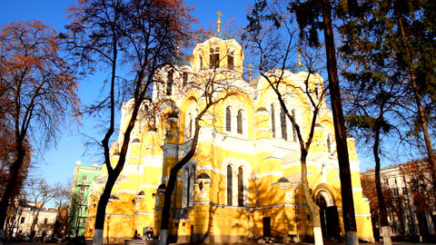 St Volodymyr's Cathedral stock footage