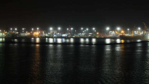 seaport at night works Footage