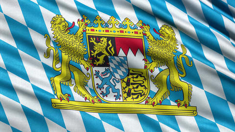 4K Flag of Bavaria seamless loop Ultra-HD Animation