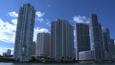 Miami Skyline Time Lapse stock footage