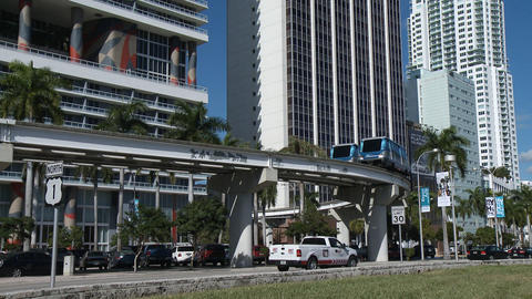 Metromover in Miami Live Action