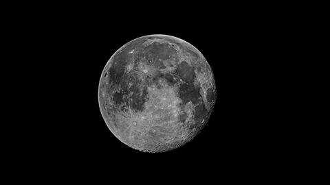 Real videography of the moon in the night sky Footage