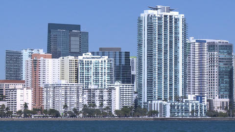 Miami skyline on a sunny morning Footage