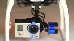 GoPro Hero3+ camera on a gimbal mount. GoPro often Footage