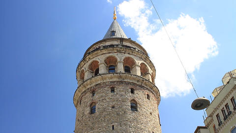 Istanbul's Galata Tower Footage