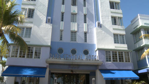 Park Central Hotel On South Beach stock footage