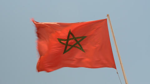 Morocco National flag Footage