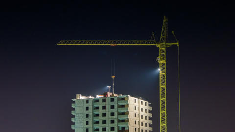 Under counstruction at night time lapse Footage