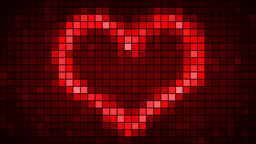 Pixel Art For St. Valentines Day stock footage