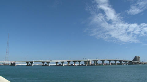 Bridge of the MacArthur Causeway in Miami Footage