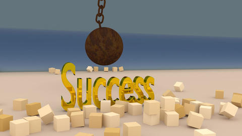 Break Through to Success Animation