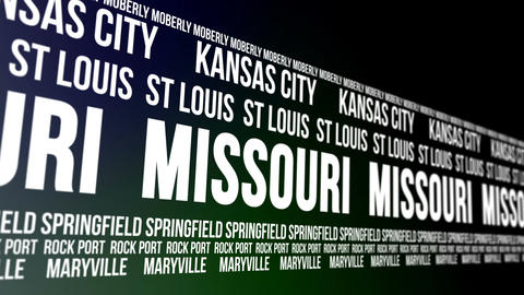 Missouri State and Major Cities Scrolling Banner CG動画