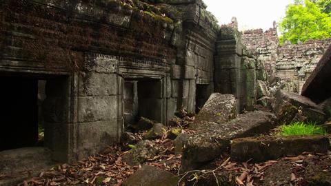Preah Khan temple slider timelapse 2 Footage