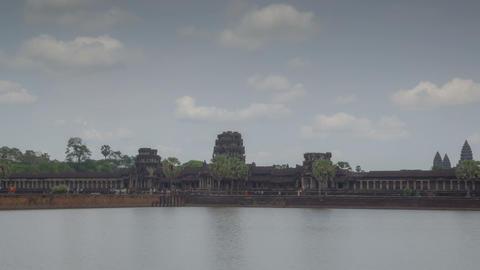 Angkor Wat temple zoom timelapse 1 Footage
