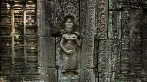 Apsara Bas-relief Shadow Zoom Timelapse stock footage