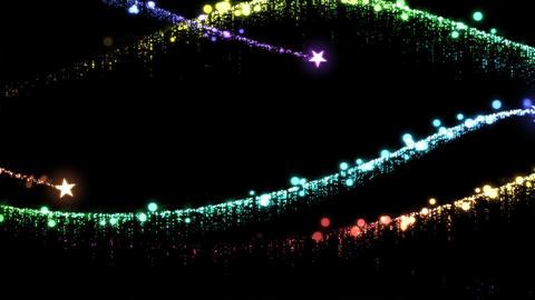 Star Waves Animation - Loop Rainbow CG動画素材