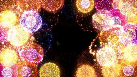 Fireworks Festival 2 Round 1op 4k CG動画素材
