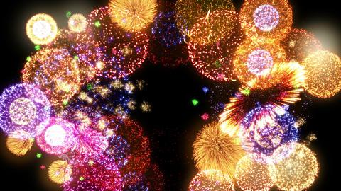 Fireworks Festival 2 Round 2op 4k CG動画