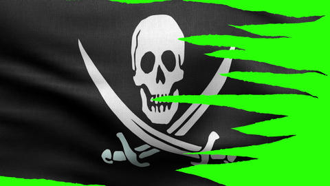 pirate flag tattered flag HD Animation