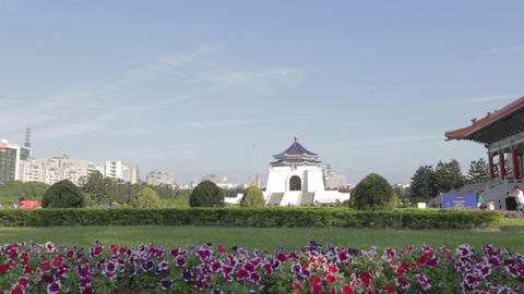 Chiang Kai Shek Memorial Hall - Forward Dolly Shot stock footage
