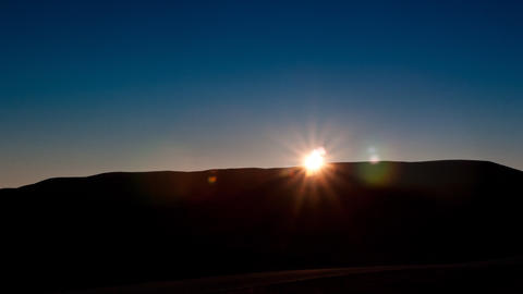 sunsets behind the mountain Stock Video Footage