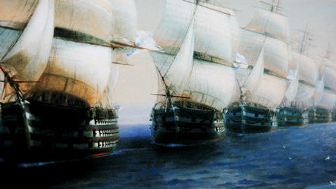 sailing squadron Stock Video Footage