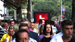 Pedestrians, slow motion Footage