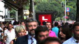 Pedestrians, slow motion Stock Video Footage