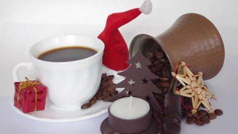 christmas coffee Stock Video Footage