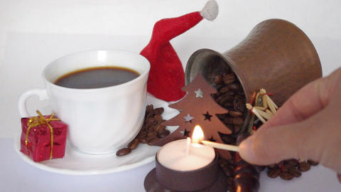 christmas coffee Stock Video Footage