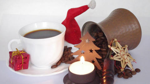 christmas coffee Footage
