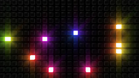 LED Back B C2 HD Stock Video Footage