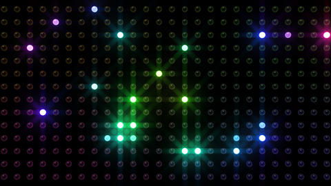 LED Back D C1 HD Stock Video Footage