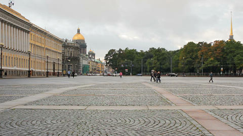 View from the Palace Square Stock Video Footage
