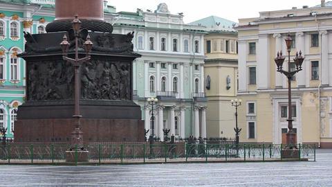 Pedestal decorations of Alexander column Stock Video Footage