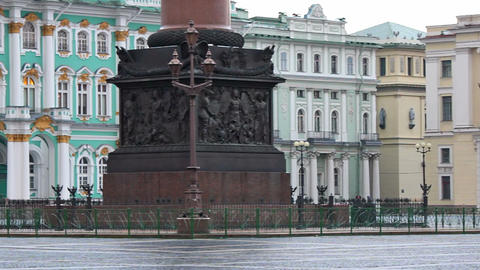 Pedestal decorations of Alexander column Footage
