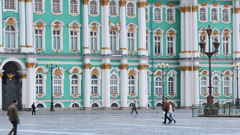 The lower part of the Winter Palace Stock Video Footage